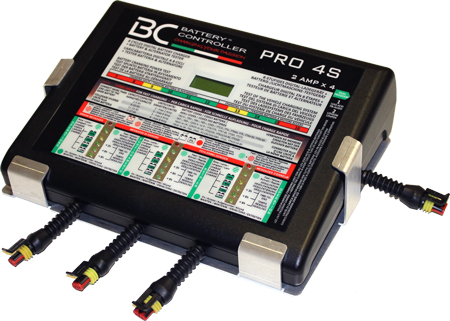 BC Pro 4S - 4-Banks Battery Charger for motorcycle workshop