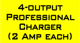 Professional battery charger with 4 outputs - 2 Amps each